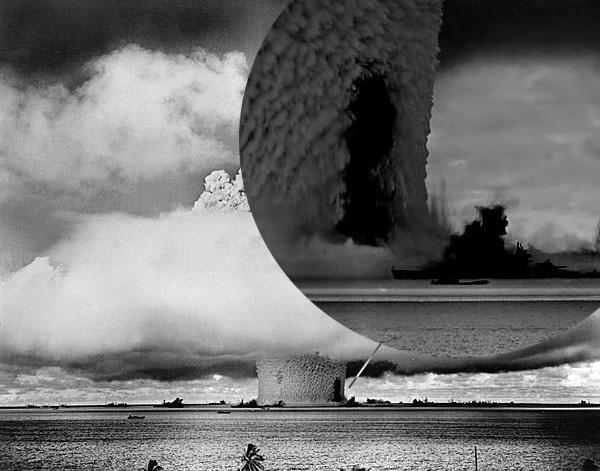 Atom bomb test bikini